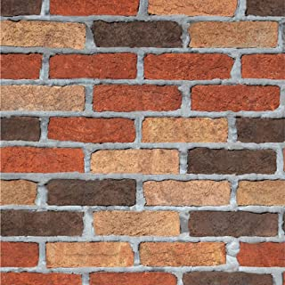 Fan-Ling 3D Brick Stone Rustic Effect Self-Adhesive Wall Sticker Home Decor,Room Decal Stone Decoration Embossed,Faux Brick Home Decoration,Environmentally Friendly,Art Craft (D)