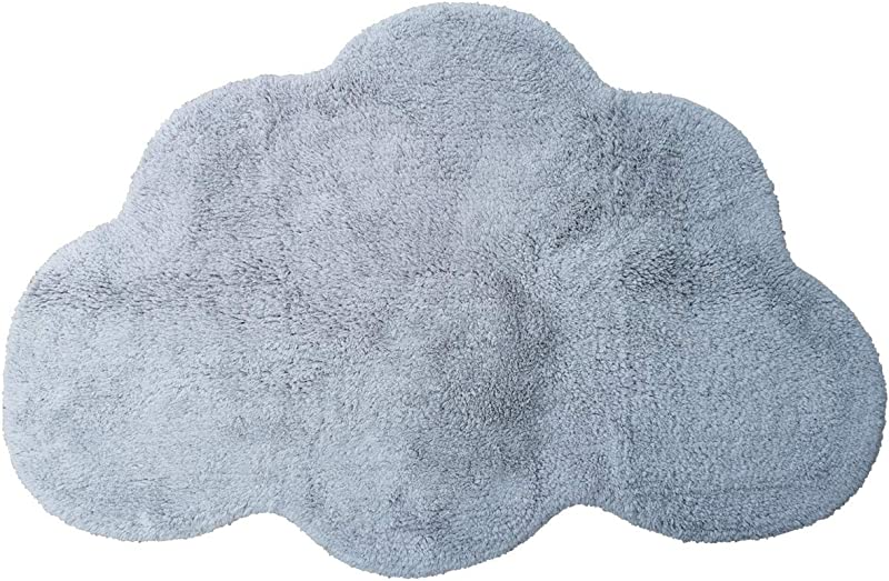 Area Rugs For Kids Cloud Shape Baby Crawling Rugs Carpet Room Warm Soft 100 Cotton Luxury Plush Handmade Knitted Nursery Decoration Rugs 39 5 INCH25 5 INCH Russian Blue