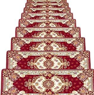 JIAJUAN Stair Carpet Treads Anti Slip Rectangle Stairs Riser Floor Step Mats Indoor, 10mm, 4 Styles, 3 Sizes, Customize (...