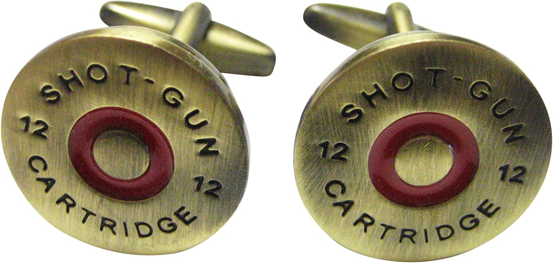 Kiola Designs Brass Toned Shotgun Shell Cufflinks