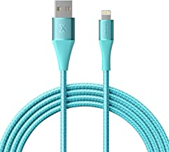 Xcentz iPad Charger 6ft, Apple MFi Certified iPhone Charger Braided Nylon Lightning Cable with Premium Metal Connector Apple Charging Cable for iPhone XS/Max/XR/X/8/7/6S/6 Plus, iPad Mini/Air-Blue
