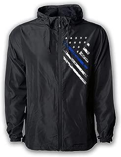 Tactical Pro Supply USA Windbreaker Jacket for Men or Women, American Flag Patriotic Hoodie Zip Up