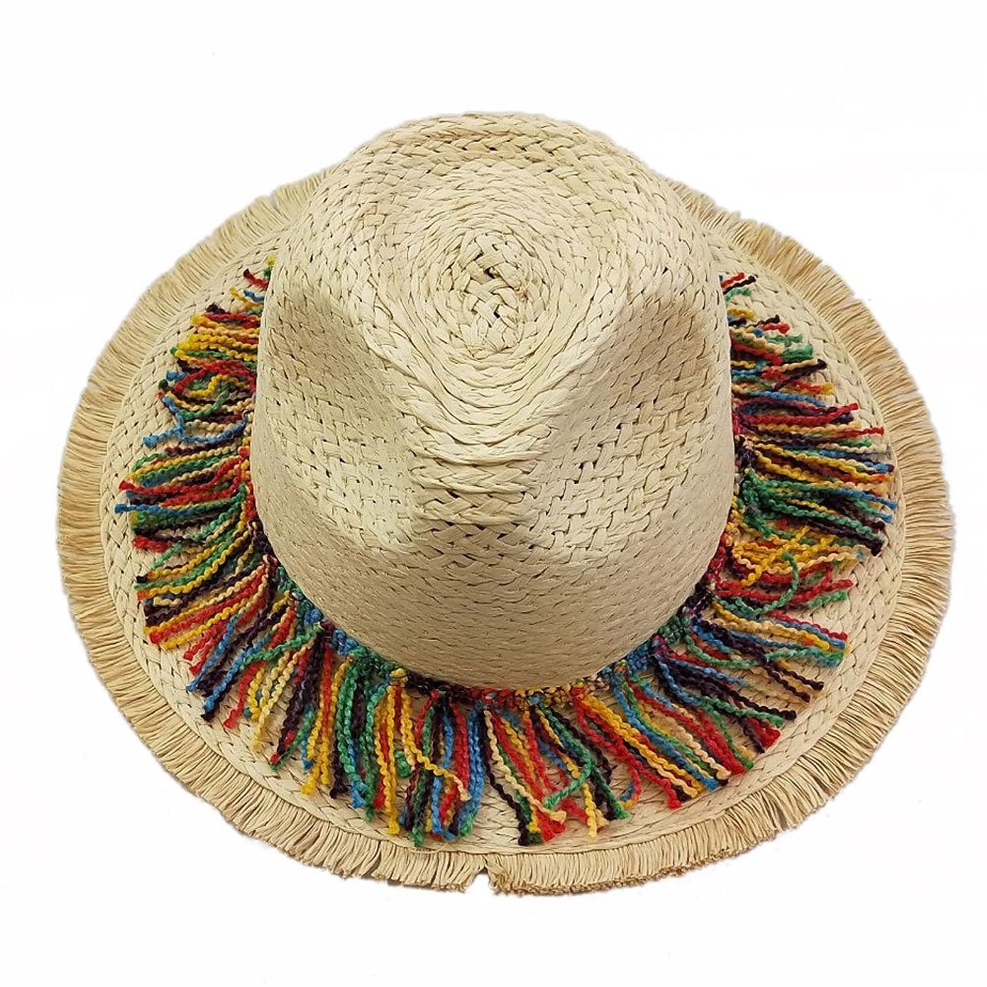 深遠お尻走るHTDZDX 麦わら帽子男性の釣り帽子、夏ワイド庇バイザーメンズと女性の屋外作業日帽子サンプロテクションUVプロテクションビーチキャップ