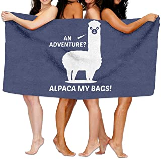Shenigon Bath Towel, Adventure Alpaca My Bags Lightweight Large Swim Beach Towels