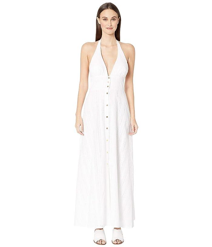 Heidi Klein Palermo Halterneck Maxi Dress (White/White) Women