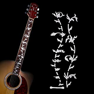 Acoustic Electric Tree of Life Music Guitar Bass DIY Neck Fretboard/Fret Inlay Sticker/Stikers Silver Thin