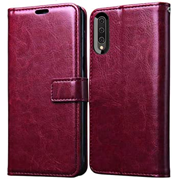 XORB®Flip Cover PU Leather Case Premium Luxury Revel Touch Defender Wallet Cover for Vivo S1 (Cherry)