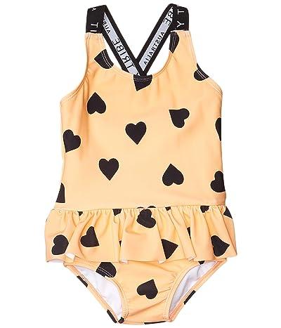 TINY TRIBE Heart Cross-Back Frilly Tank (Toddler/Little Kids) (Peach) Girl