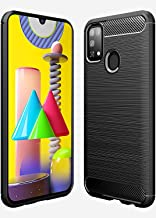 JGD PRODUCTS Carbon Fiber Armor Drop Tested Shock Proof TPU Back Case Cover for Samsung Galaxy M31 (2020)