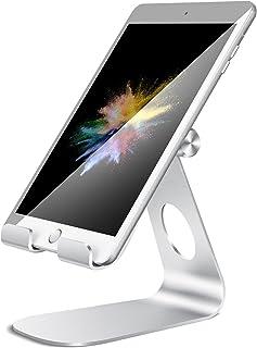 Soporte Tablet, Lamicall Multiángulo Soporte Tablet : Soporte Base Ajustable para Tablets para Pad 2018 Pro 10.5 / 9.7 / 12.9, Pad mini 2 3 4, Pad Air, Air 2, Samsung Tab, Otras Tablets - plata
