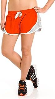 شورت قصير للنساء من Soffe ، برتقالي ، كبير