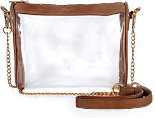 Clarity Handbags Zoe Clear Women's Handbag for Professional & College Sporting Events Clear Bag Stadium Policy Approved