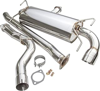 AJP Distributors Jdm Catback Exhaust Muffler System Stainless Steel Piping Pipe For Mitsubishi Lancer Evo 10 Evolution X 2008 2009 2010 2011 2012 2013 2014 08 09 10 11 12 13 14