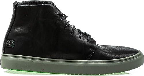 SATORISAN 172042 Bywater Pull up zapatos negros hombres Cordones de Cuero Medio