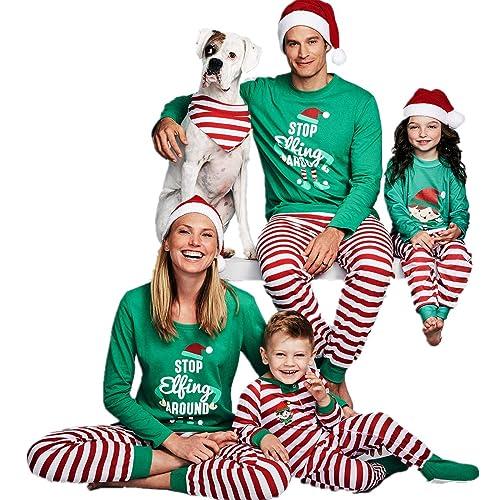 6a87c6d369 MAIPOETYRY Christmas Holiday Family Matching Sleepwear Pajamas Set