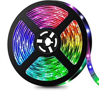 Yafido LED Strip Lights 5 Metre RGB 5050 SMD Strips Lighting IP65 Waterproof with Smart WiFi Wireless APP Controlled and 2...