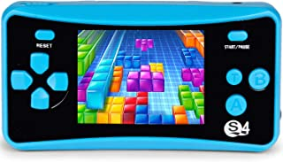 """JJFUN Arcade Handheld Game Console for Children, 2.5"""" LCD Portable Retro Entertainment Gaming System FC TV-Out Video Game Player with 182 Classic Games Birthday Gifts Party Presents for Kids-Blue"""