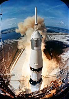 Gifts Delight Laminated 24x34 Poster: Launch of Apollo 11 On July 16, 1969, The Huge, 363-feet Tall Saturn V Rocket launches on The Apollo 11 Mission from Pad A, Launch Complex 39, Kennedy