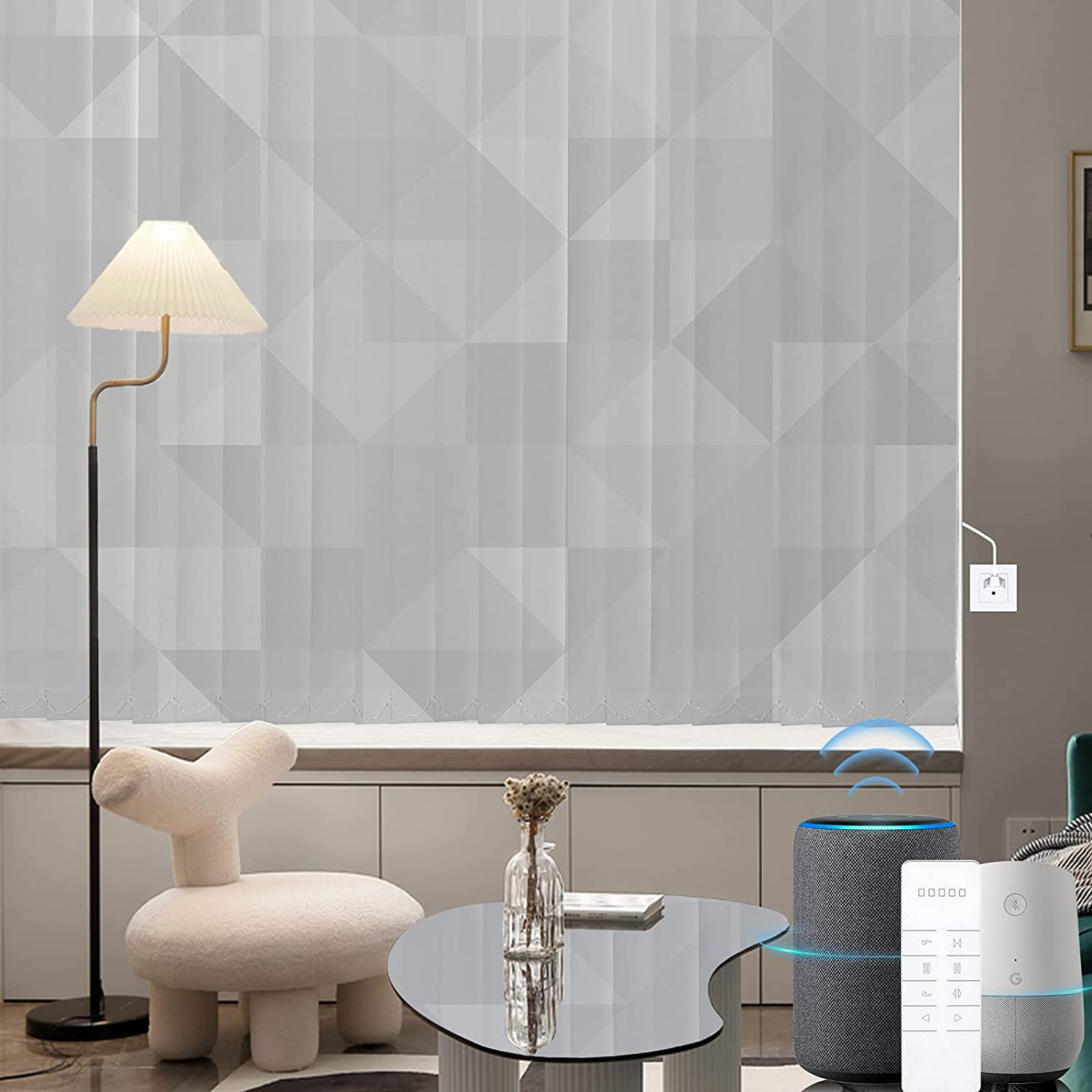 Graywind Motorized Vertical Blinds Compatible Max 86% OFF Special Campaign Blackout Alex with