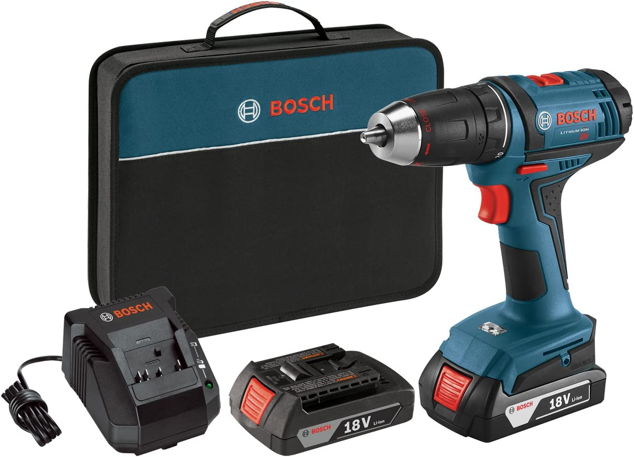 Bosch 18V MAX Cordless Drill / Driver Kit, Compact and Lightweight