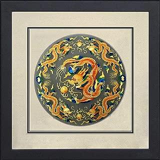 100% Handmade Embroidery FrameKing Silk Art 100% Handmade Embroidery Framed Five Golden Dragon Oriental Wall Hanging Art Asian Decoration Tapestry Artwork Picture Gifts 32216WF