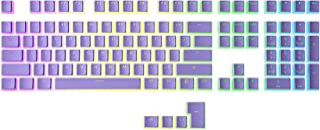 HK Gaming 108 Double Shot PBT Shine Through Pudding KeyCaps Keyset do mechanicznej klawiatury do gier przełączników MX | Z...
