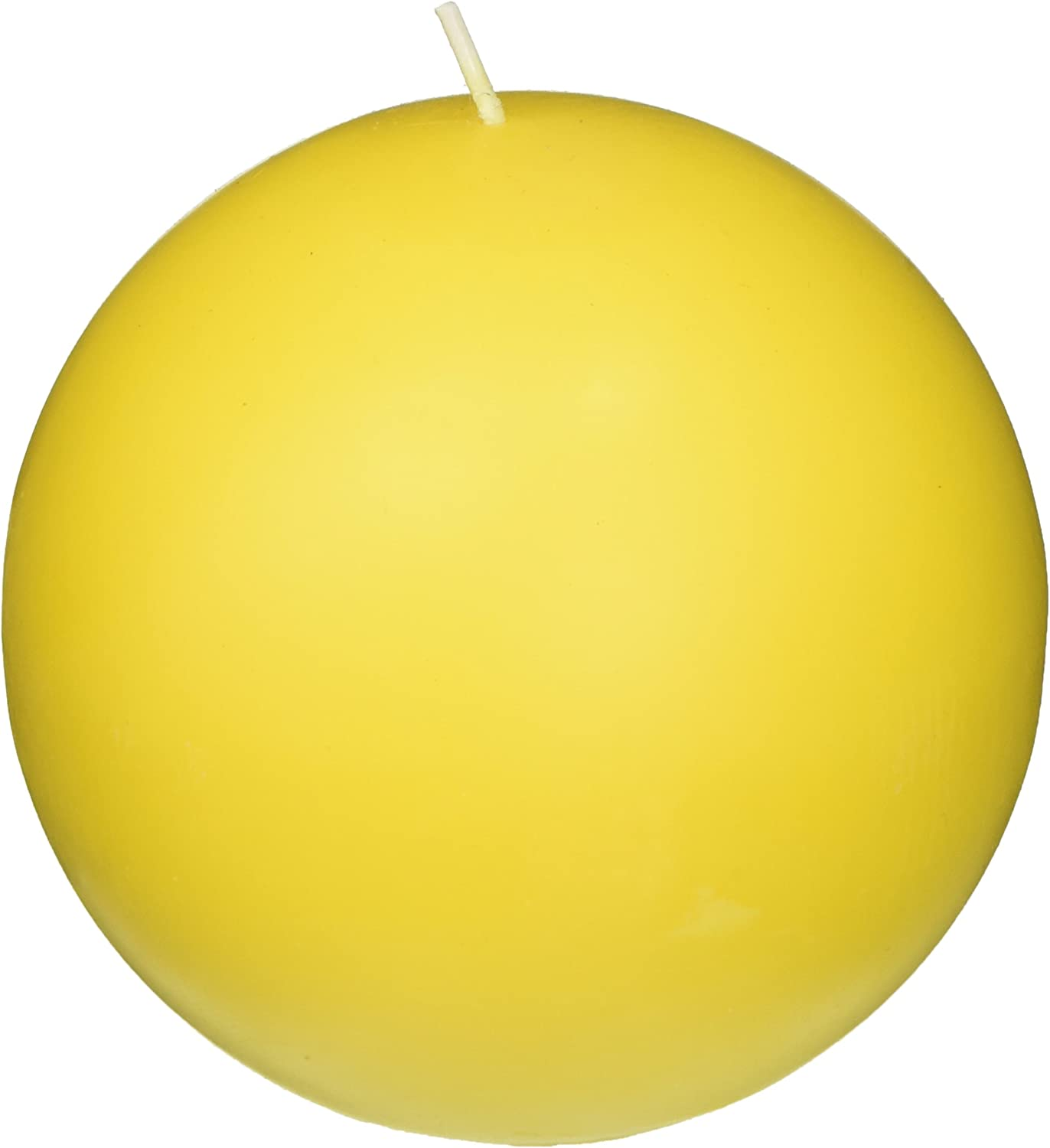Zest Candle 2-Piece Ball Candles Yellow 4-Inch Clearance SALE! Limited time! 70% OFF Outlet