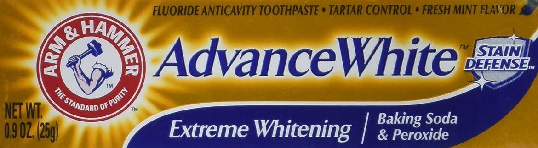 カビ流出部Arm & Hammer Advance White Extreme Whitening Toothpaste .9 Oz Travel Size by Arm & Hammer