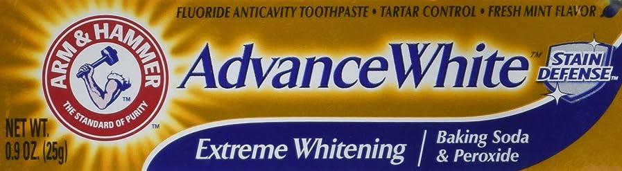 木曜日所得ブレークArm & Hammer Advance White Extreme Whitening Toothpaste .9 Oz Travel Size by Arm & Hammer