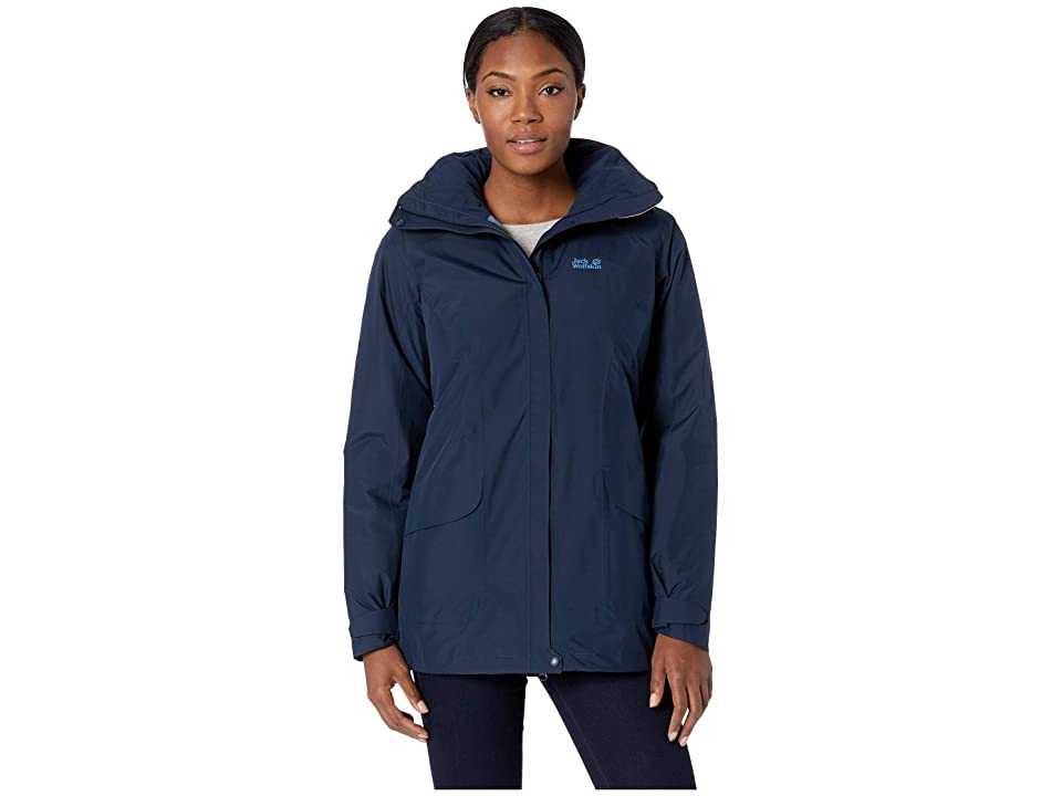 Jack Wolfskin Kiruna Trail Insulated Jacket (Midnight Blue) Women