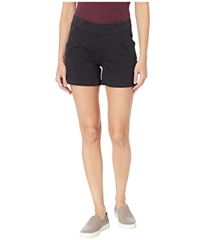 Jag Jeans 5 Gracie Pull-On Shorts in Twill (Black) Women
