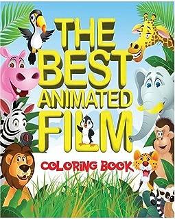 El mejor libro para colorear de películas animadas: los 50 mejores personajes de películas animadas de taquilla para que los niños coloreen en un libro A4 de 52 páginas.  Incluye escenas de Shrek, Frozen, BFG, The Jungle Book y muchos más.