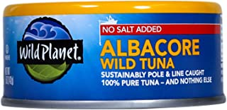 Wild Planet, Wild Albacore Tuna, No Salt Added, 5 Ounce