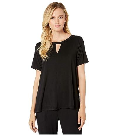 Donna Karan Modal Spandex Jersey Pajama Set (Black) Women