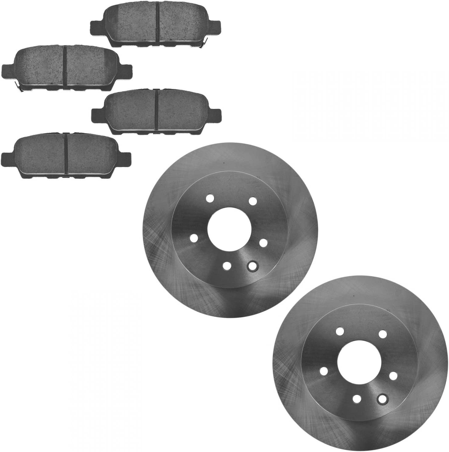 Brake Pad Rotor Kit Rear Posi Ceramic Ranking TOP10 Premium With Compatible Washington Mall