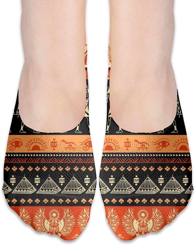 Egypt Symbols Comfortable Boat Socks-Sweat Wicking Non-Slip Socks Leisure Sports Deodorant Foot Socks