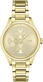 HUGO BOSS GRAND COURSE WOMEN's GOLD DIAL WATCH - 1502584