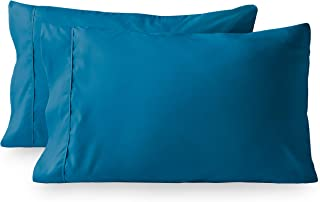Best Bare Home Premium 1800 Ultra-Soft Microfiber Pillowcase Set - Double Brushed - Hypoallergenic - Wrinkle Resistant (King Pillowcase Set of 2, Medium Blue) Review