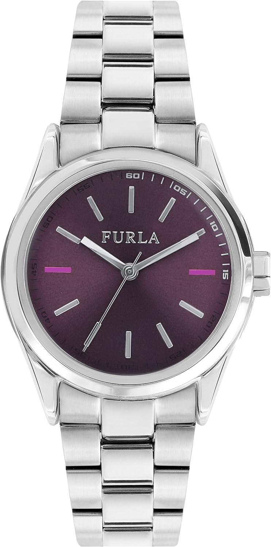FURLA Reloj Analógico para Mujer de Cuarzo con Correa en Acero Inoxidable R4253101504