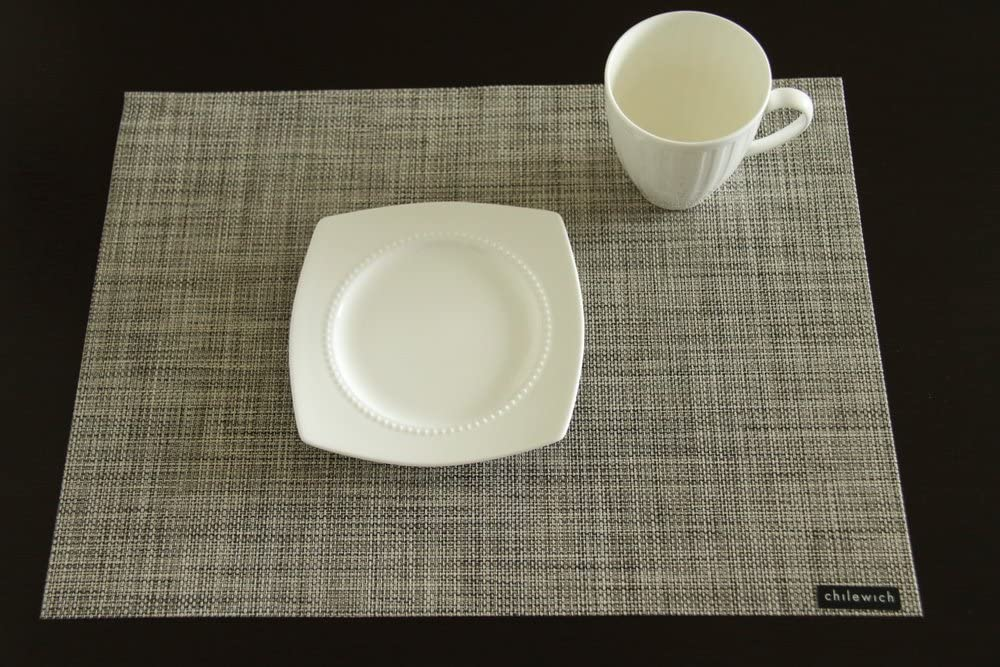 Max 48% OFF Chilewich Rect Mini Basketweave Phoenix Mall Tablemat-Gravel