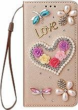 Miagon Bling Rhinestone Flip Case for Samsung Galaxy A32 5G,3D Handmade Jewellery Crystal PU Leather Case Diamond Cover St...