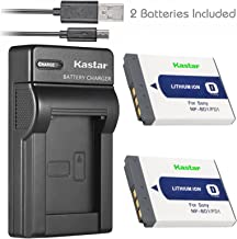 Kastar Battery (X2) & Slim USB Charger for Sony NP-BD1, NP-FD1, BC-CSD and Cyber-shot DSC-G3, DSC-T2, DSC-T70, DSC-T75, DSC-T77, DSC-T90, DSC-T200, DSC-T300, DSC-T500, DSC-T700, DSC-T900, DSC-TX1