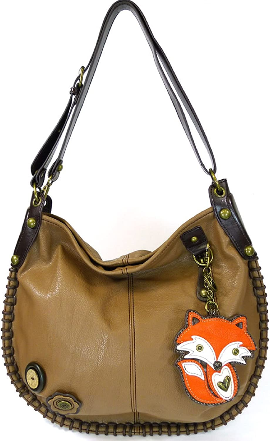 Chala Charming Hobo Bag , Brown, Fox