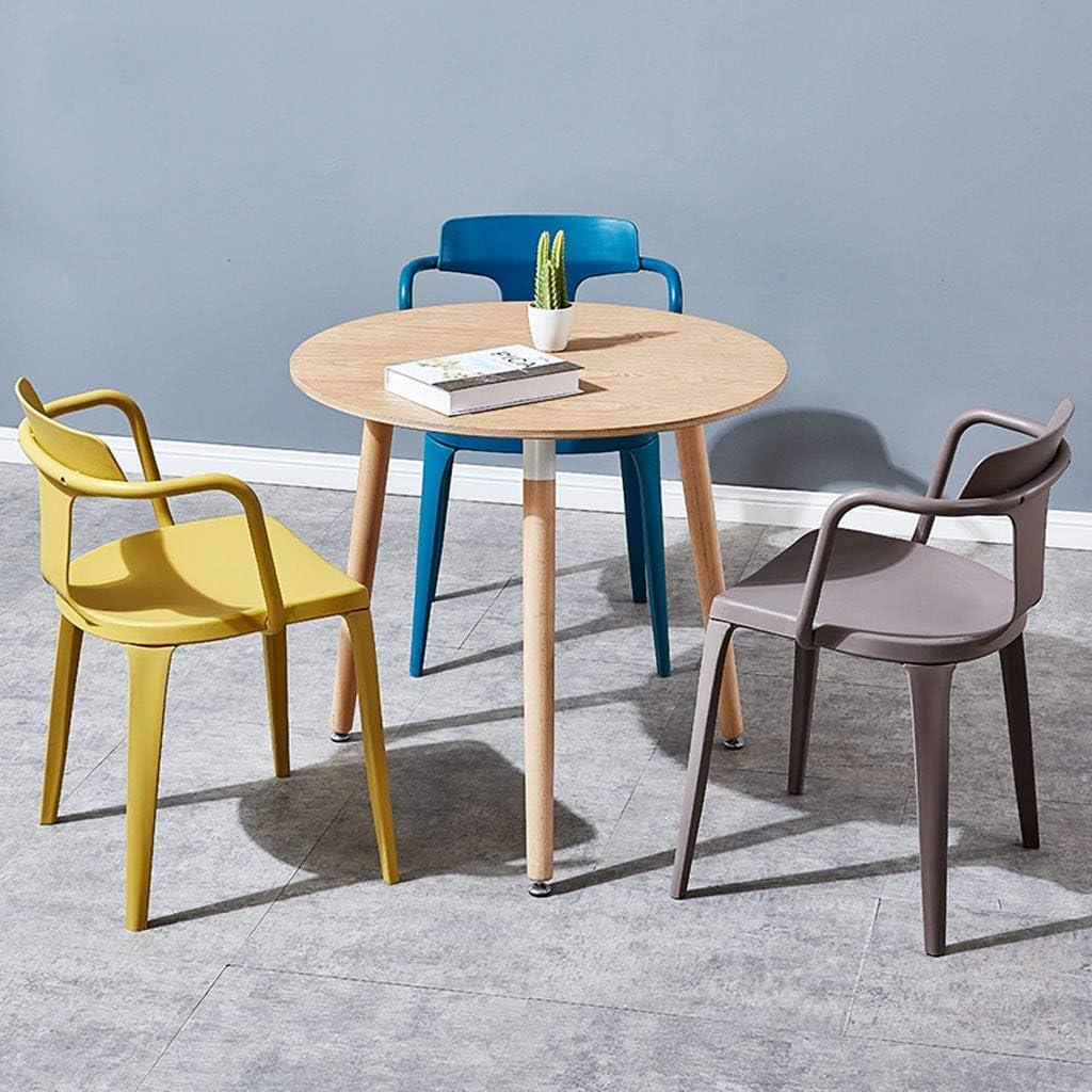 HTL Chaises de Bureau Chaise Pp Matériel Industriel Designer Retour Chaises de Cuisine Café Chaises Empilables Chaises Side Arm Accent,Vert Rouge