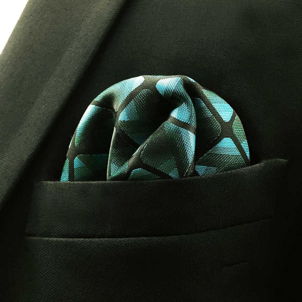 DIAOD Business Multicolor Pocket Square Mens Classic Suit Gift Handkerchief Checkes Acceossories (Color : D, Size : 32x32CM)