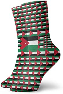 Jordan Flag Crew Calcetines Casual Divertido para bota deportiva Senderismo Running, 30 cm