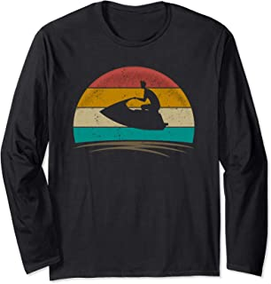 Vintage Jet Ski Retro 70s Distressed Jetski Lover Men Women Long Sleeve T-Shirt