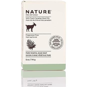 Nature By Canus Bar Soap, Fragrance Free, 5 Oz, With Fresh Canadian Goat Milk, Vitamin A, B3, Potassium, Zinc, and Selenium