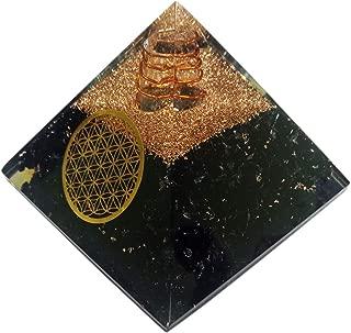 Superwave Orgone Pyramid Large Tourmaline Crystal Energy Generator EMF Protection Meditation Healing (Vajra)