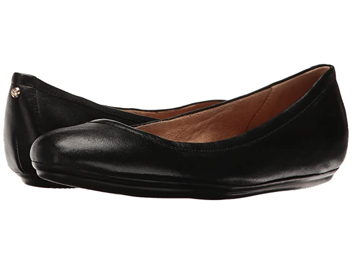 Naturalizer Brittany (Black Leather) Women's Flat Shoes